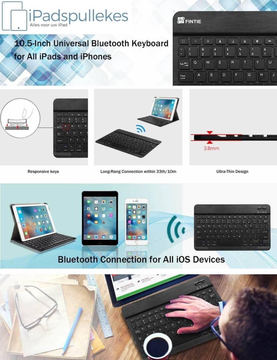 iPad toetsenbord zwart klein