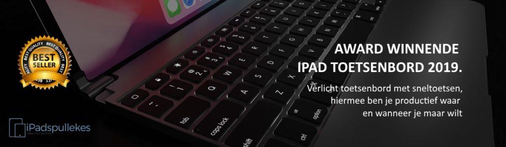 iPad toetsenbord met verlichte toetsen