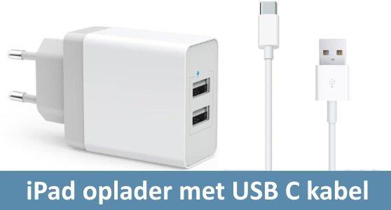iPad oplader met USB C kabel