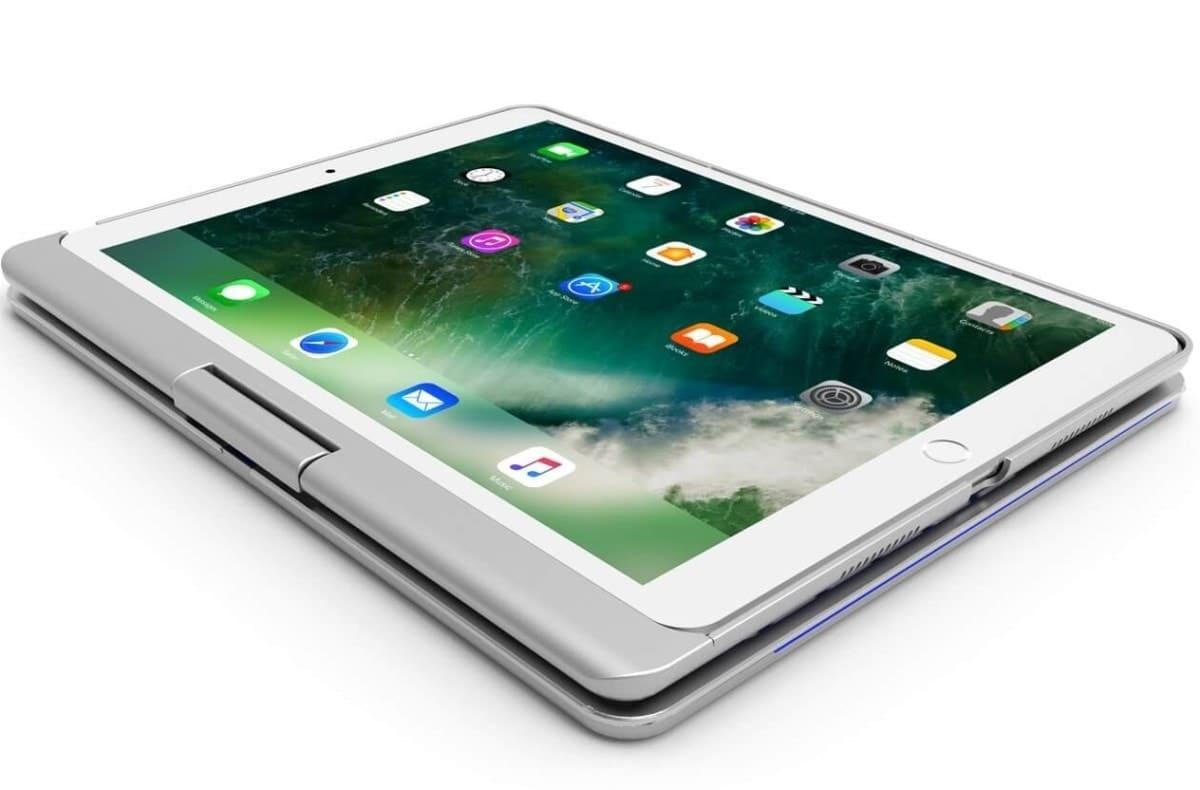 iPad 2019 10.2 toetsenbord draaibare case goud