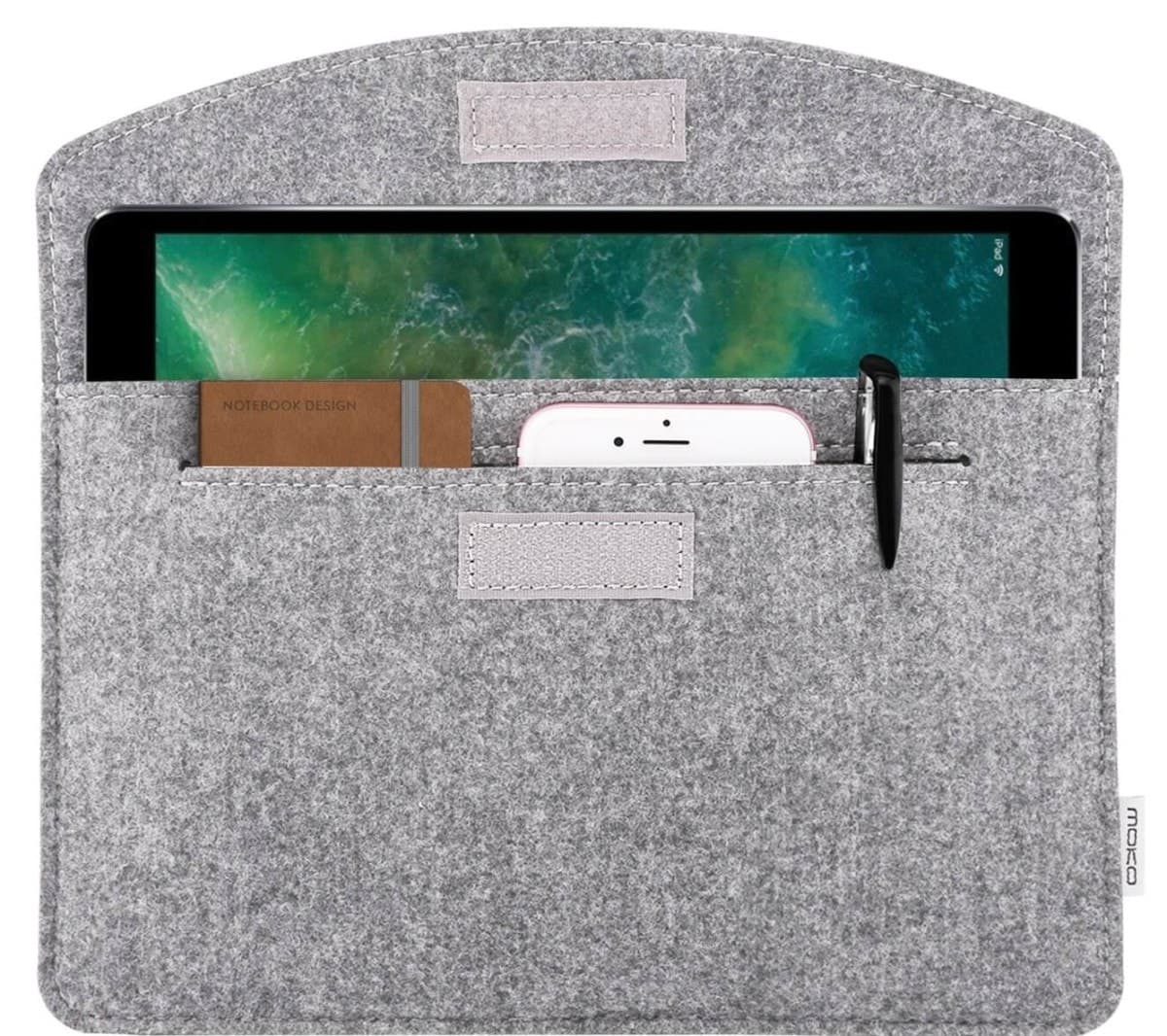 iPad 2018 sleeve licht grijs