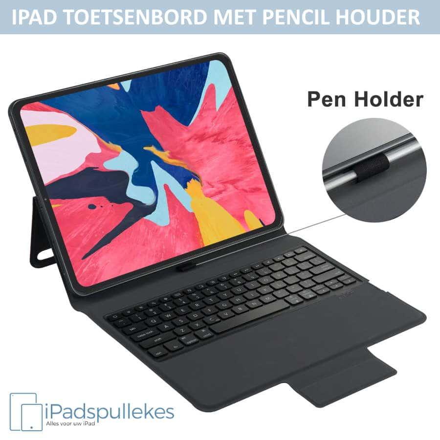 iPad 2018 toetsenbord met pencil houder