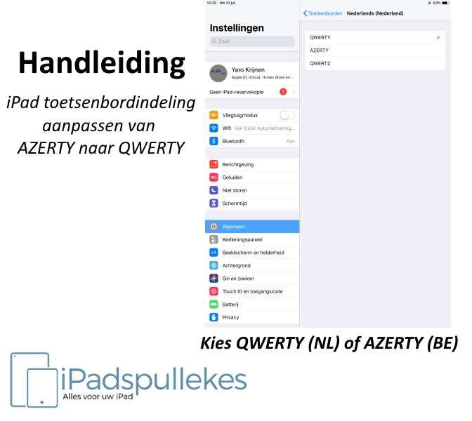 iPad AZERTY wisselen met QWERTY