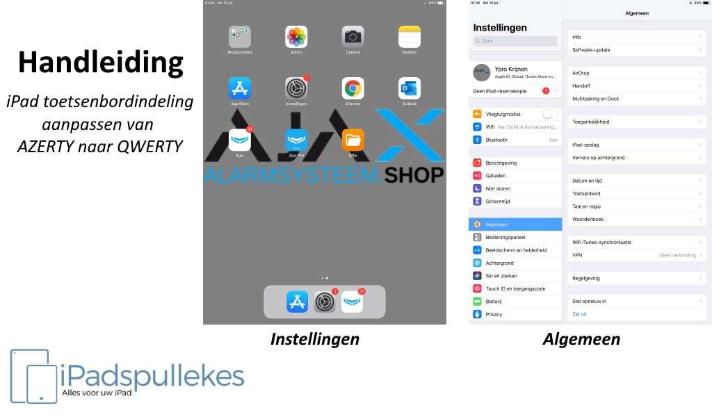 Taal instellen iPad toetsenbord