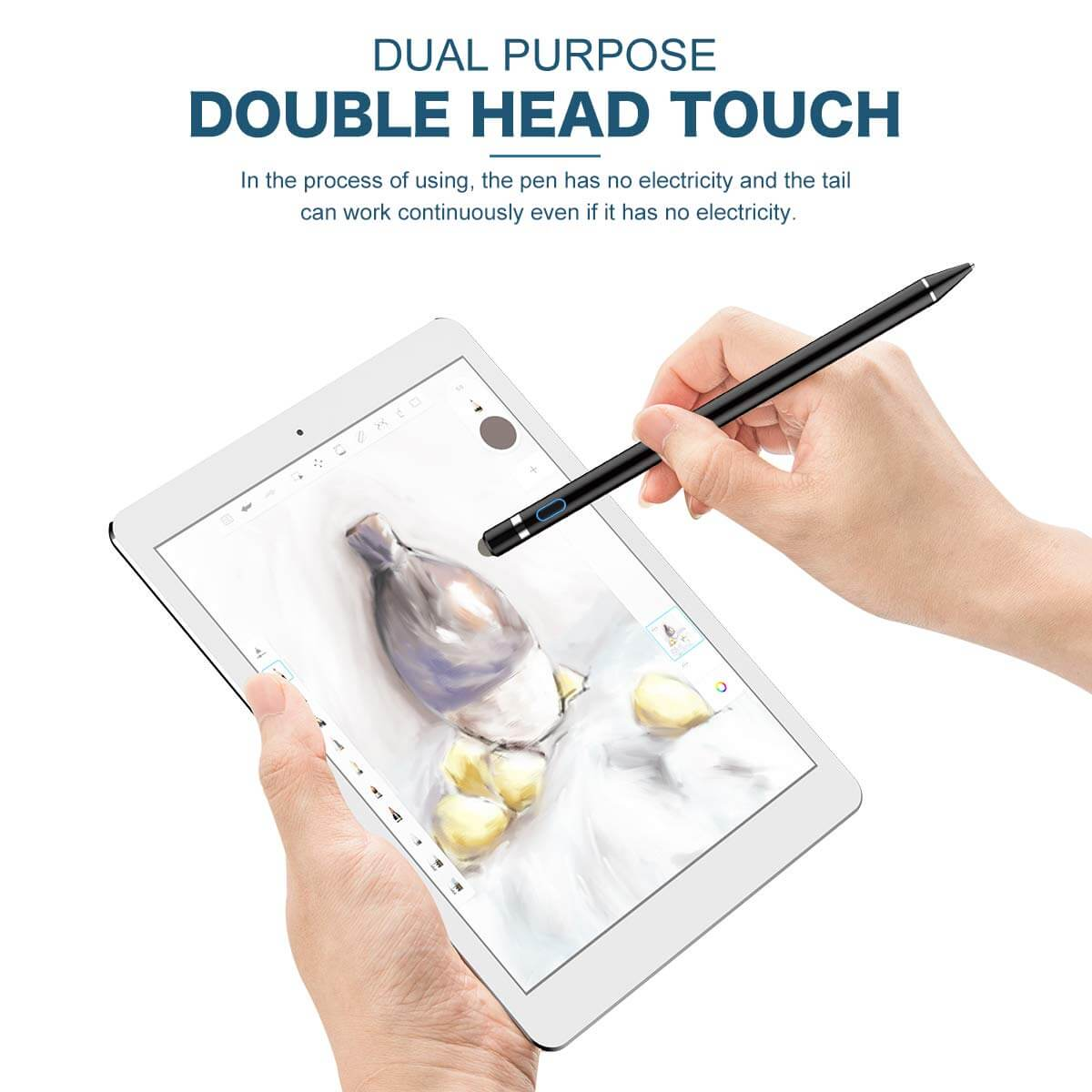 iPad Active Stylus Pen Dual zwart