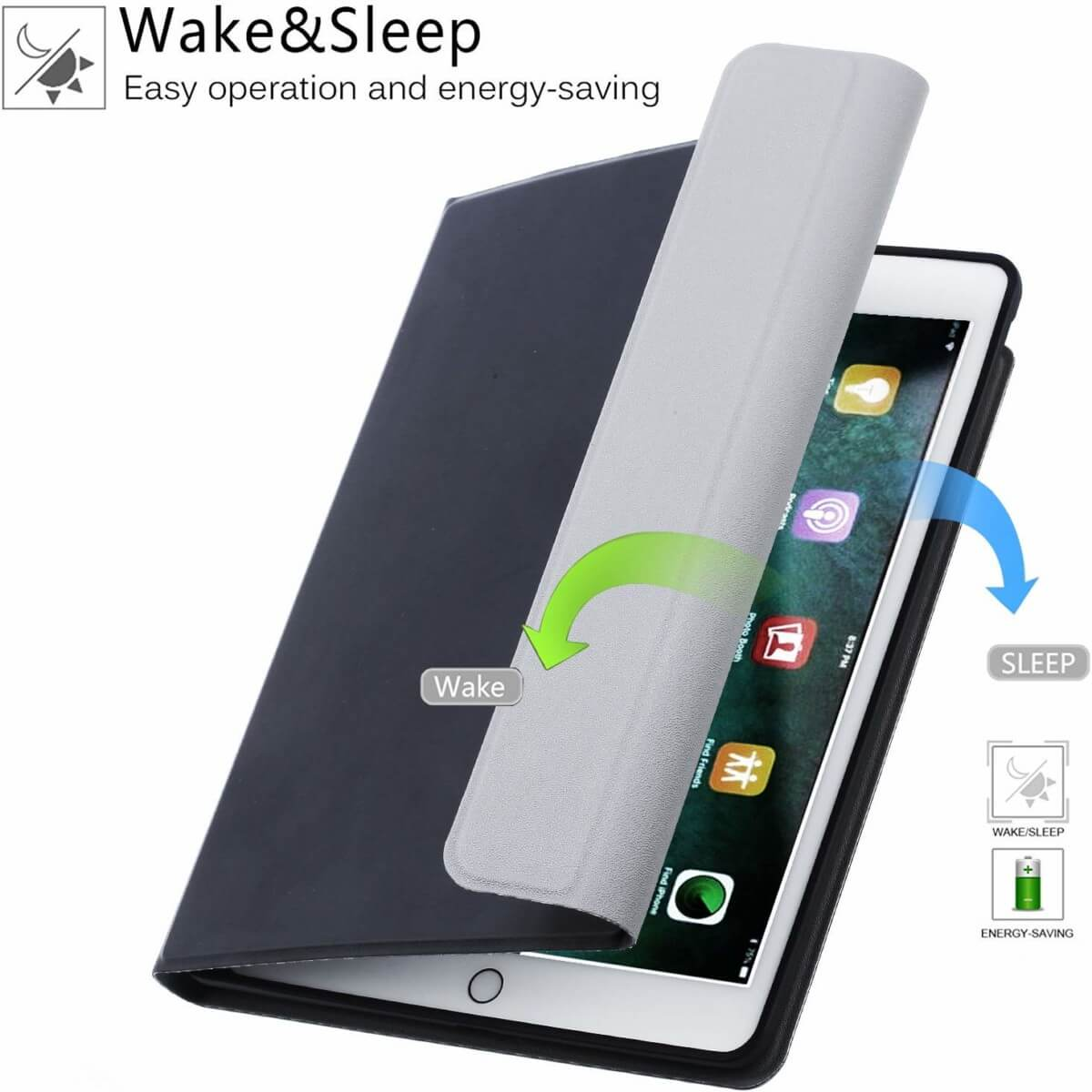 iPad 2019 10.2 Toetsenbord met touchpad Zwart