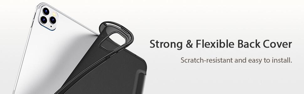 iPad Pro 11 (2020 - 2018) ESR Smart Cover Case flexibel achterkant